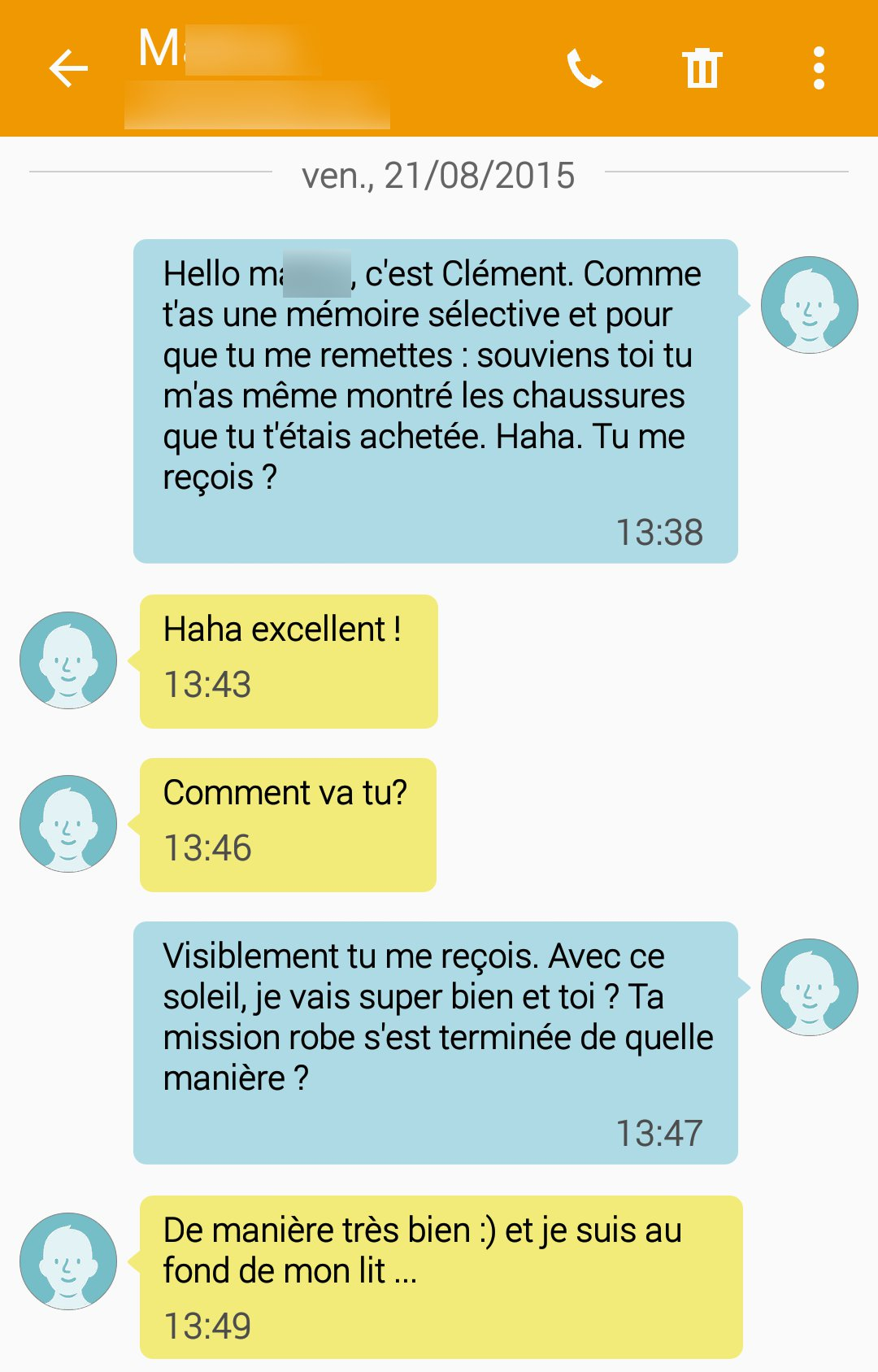 message rencontre internet