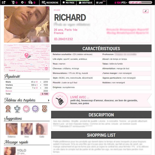 profil ideal site rencontre